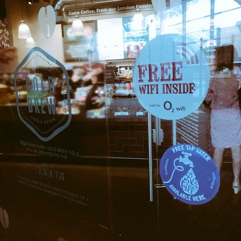 Refill Costa Window sticker
