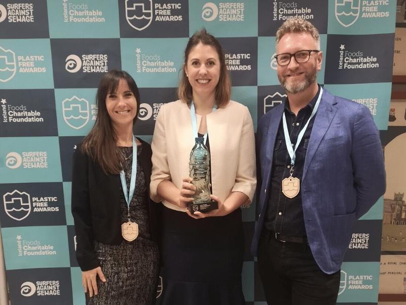 Refill Wins Plastic-Free Award