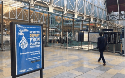 Passengers take on plastic pollution at Britain's biggest and busiest train stations